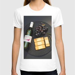 Wine and Cheese - Minimalist Kitchen Photography T-shirt