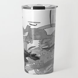 ink splotches Travel Mug