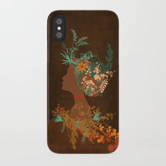 Mujer floral iPhone Case