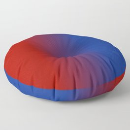 Ombre in Red Blue Floor Pillow