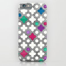 Color Pop Moroccan in fuchsia, purple, emerald green, grey & white. Slim Case iPhone 6
