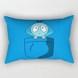 Aquamarine Pocket Tee Rectangular Pillow