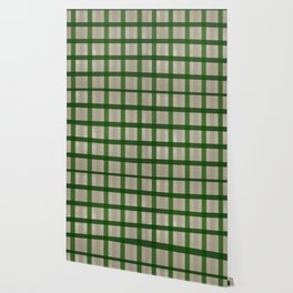 Evergreen Cozy Cabin Plaid Wallpaper