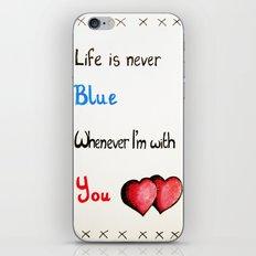 Valentine's: Never Blue iPhone & iPod Skin