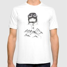 Mountain Girl Mens Fitted Tee White MEDIUM