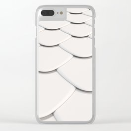 Pattern of white rounded roof tiles Clear iPhone Case