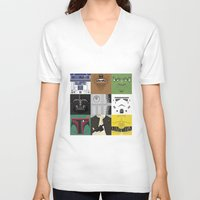 starwars V-neck T-shirts featuring Starwars combo by Alex Patterson AKA frigopie76