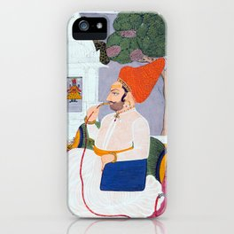 Baba Atmaram - holy man at a Vishnu Shrine - Vintage Indian print iPhone Case
