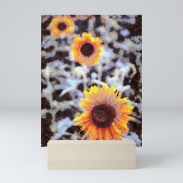 Sunflowers in the Snow Mini Art Print