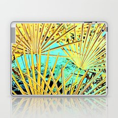 Yellow Space Palm Leaves Laptop & iPad Skin