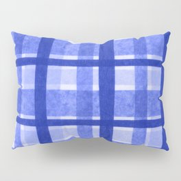 Tissue Paper Plaid - Blue Pillow Sham
