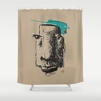 totem Shower Curtains featuring Totem by Mauricio Cosío