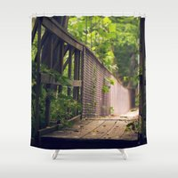 indiana Shower Curtains featuring Indiana Summer by Amy J Smith Photography