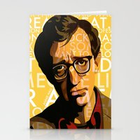 annie hall Stationery Cards featuring Woody Allen - Annie Hall I by FCRUZ