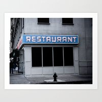 seinfeld Art Prints featuring The [Seinfeld] Diner by Nancy Falso