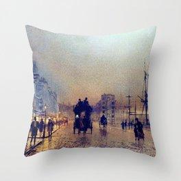 Glasgow, twilight by John Atkinson Grimshaw Throw Pillow