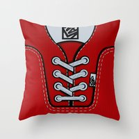 vans Throw Pillows featuring Red Vans shoes iPhone 4 4s 5 5s 5c, ipod, ipad, pillow case and tshirt by Three Second