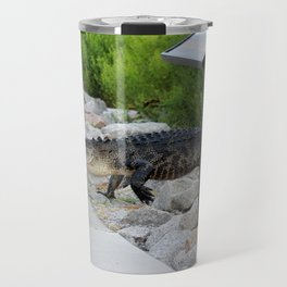 Alligator Coming Up For A Stroll Travel Mug