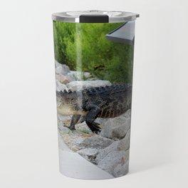 Alligator Coming Up For A Stroll Travel Mug