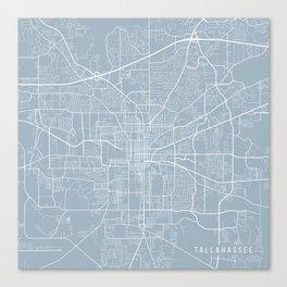 Tallahassee Map, USA - Slate Canvas Print