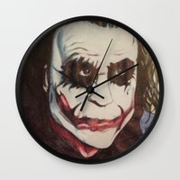 joker Wall Clocks featuring joker by DeMoose_Art