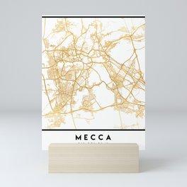 MECCA SAUDI ARABIA CITY STREET MAP ART Mini Art Print