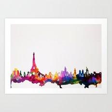 Paris In Watercolor Art Print