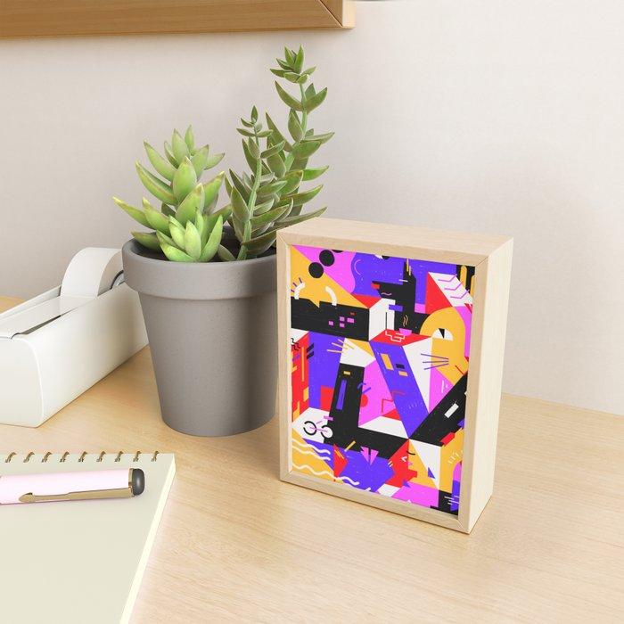 Multi-dimensional city Framed Mini Art Print