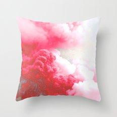 Pink Explosion Throw Pillow