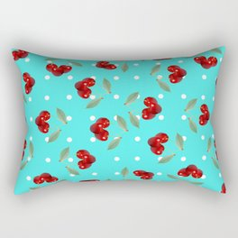Retro Cherries Rectangular Pillow