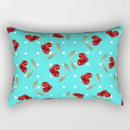 Retro Cherries Rectangular Pillow