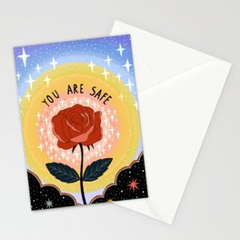 You are safe Stationery Cards