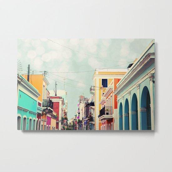 Colorful Buildings of Old San Juan, Puerto Rico Metal Print