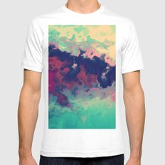 Watercolor marble MEDIUM White Mens Fitted Tee