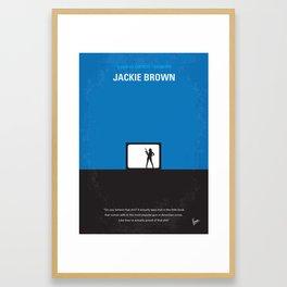 No044 My Jackie Brown minimal movie poster Framed Art Print