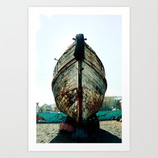The Old Boat in the Harbor Art Print