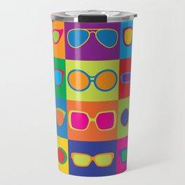 Pop Art Eyeglasses Travel Mug