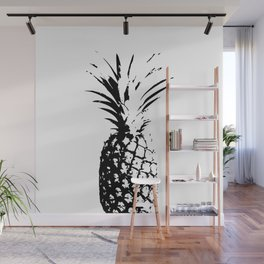 ''Nowhere Collection'' - Black And White Pineapple Print Wall Mural