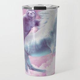 Epic Space Sloth Riding On Unicorn Travel Mug
