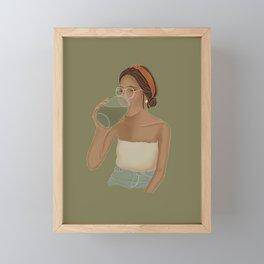 Green Juice Framed Mini Art Print