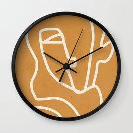 Abstract Minimal Woman Portrait 2 Wall Clock