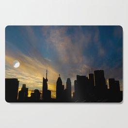 Skyline Silhouette Moody Wispy Clouds Cutting Board