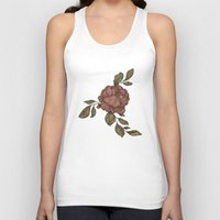 rose Tank Tops featuring Rose by Jessica Roux
