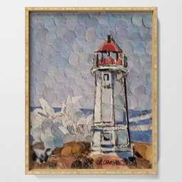 """"""" Lighthouse """" Serving Tray"""