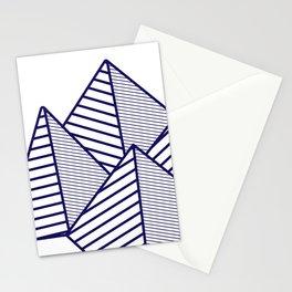 Paku Paku, navy lines Stationery Cards