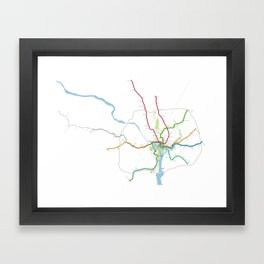 Washington Metro To Scale Framed Art Print