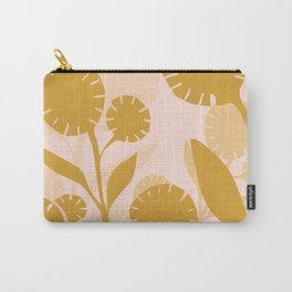 Wildflowers Large- Pink and Gold Carry-All Pouch