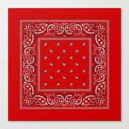 Paisley - Bandana - Red - Southwestern - Boho Canvas Print