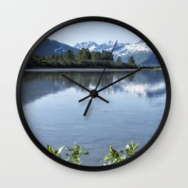 Placer River at the Bend in Turnagain Arm, No. 1 Wall Clock