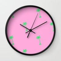 hollywood Wall Clocks featuring Hollywood by Lynsey Ledray